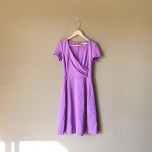 Boden Lilac Alicia Ruched Wrap Front Ponte Dress